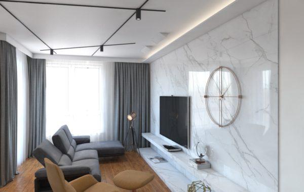 Prace projektowe dla mieszkania w Warszawie
